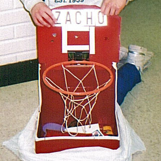 Our First One Was This Basketball Hoop Valentine Box.