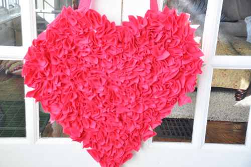 felt valentine hear wreath003